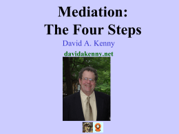 The Four Steps Approach