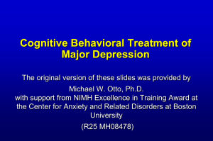 CBT for Depression - Anxiety Disorders Association of America