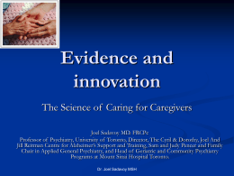 Background Information on Caregiving