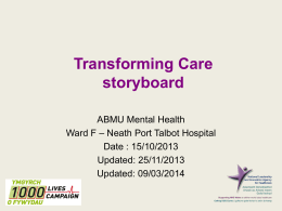 Transforming Care storyboard