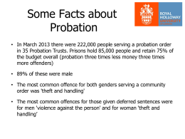 Probation and Mental Health - Office of the Police and Crime