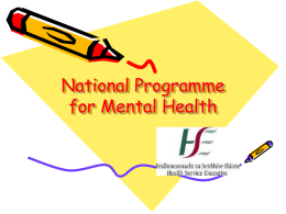 National Programme for Mental Health