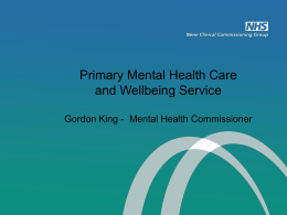 Primary Mental Health Care and Wellbeing Service