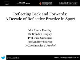 A Decade of Reflective Practice in Sport