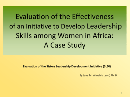 (SLDI) Program - African Sisters Education Collaborative