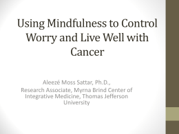 Mindfulness Meditation - Living Beyond Breast Cancer