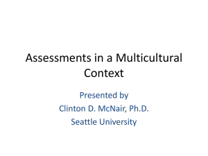 Assessments in a Multicultural Context PowerPoint