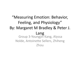 """Measuring Emotion: Behavior, Feeling, and Physiology"" By"
