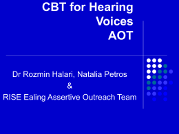 CBT for Hearing Voices