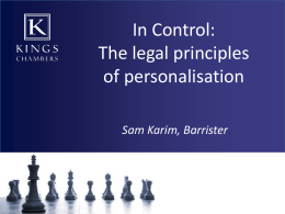 Legal Principles of Personalisation