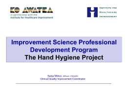 The Hand Hygiene Project ISIA course