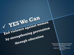 PVAW - End violence against women by strengthening prevention