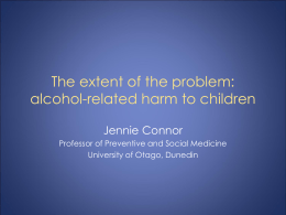 The extent of the problem: alcohol-related harm
