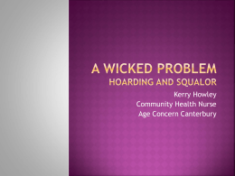 A wicked problem - Age Concern Canterbury