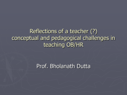 conceptual and pedagogical challenges in teaching OB/HR