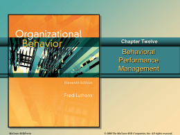 Chap012 - Organizational Behavior