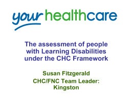 Assessing individuals with learning disabiliites for CHC