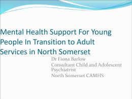 Mental Health Needs of Young People and their transition to adult
