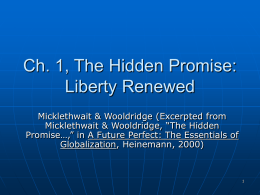 The Hidden Promise - Globalization: Social & Geographic