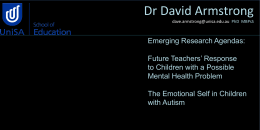 Dr David Armstrong - Lecturer, Special Education and Inclusion