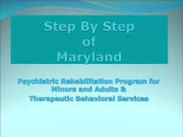 Step By Step of Maryland PRP & TBS Presentation