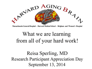 Cognition Healthy Aging MCI - Massachusetts Alzheimer`s Disease