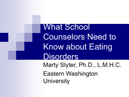 What Mental Health Professionals Need to Know about Eating
