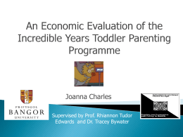 An Economic Evaluation of the Incredible Years Toddler Parenting