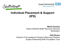 Individual Placement and Support – Sussex