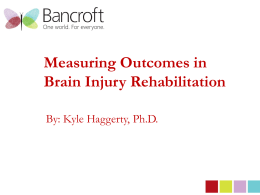 Brain Injury Services Outcomes
