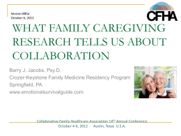 What Family Caregiving Research Tells Us About Collaborating with