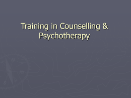 BSc Therapeutic Counselling