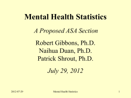 Mental Health Statistics 2012-07-29 COS RG-ND
