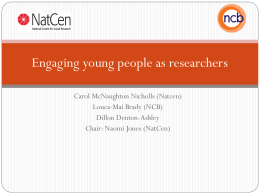 Engaging young people as researchers