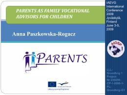 Parents As Family Vocational Advisors For Children