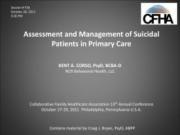 Managing Suicide Risk in Primary Care.