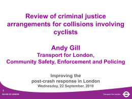 Review of criminal justice arrangements for collisions