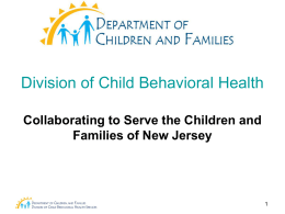 REQUEST FOR PROPOSALS FOR New Jersey Task Force on Child