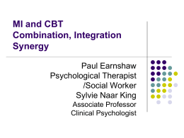 Combining/Integrating MI and CBT
