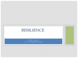 Introduction to resilience A life enhancing skill