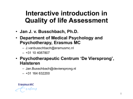 Clinical Quality of life assessment