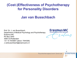 (Cost-)Effectiveness of Psychotherapy for