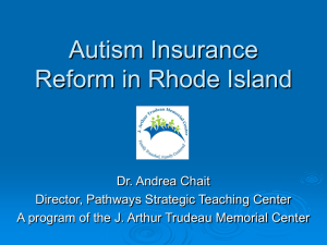 Autism Insurance Reform in Rhode Island
