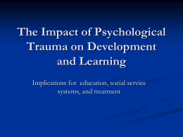what is psychological trauma? - Bi