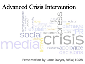 Advanced Crisis Intervention: Contemporary Approaches for the