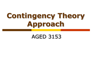Contingency Theory Approach