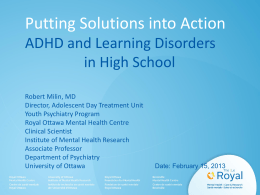 ADHD/AD - Lisgar Collegiate Institute