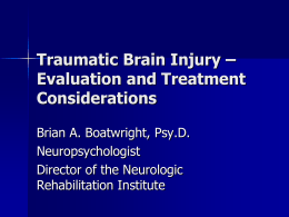 to view the PowerPoint on Traumatic Brain Injury