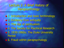 Brief History of Parapsychology_French
