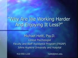 Why Are We Working Harder And Enjoying It Less?
